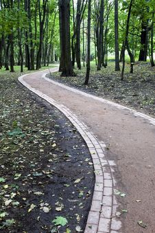 Free Footpath In Park Royalty Free Stock Photos - 6413518
