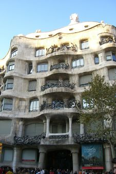 Free Gaudi S Casa Milà/Mila House, Barcelona Stock Image - 6413771