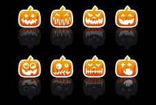 Free Halloween Pumpkins Stock Photography - 6414642