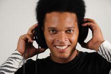 Free Happy Man With Headphones Royalty Free Stock Image - 6414706