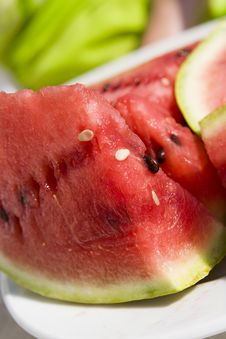 Free Slices Of Watermelon Stock Image - 6415291