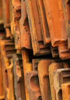 Roofing Tile Stock Stock Photo