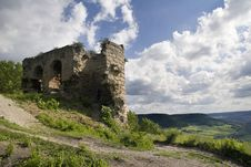 Old Castle Ruin Kunitz Stock Image