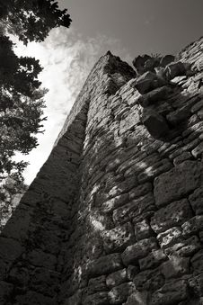 Old Castle Ruin Kunitz Stock Images