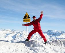 Safety In Mountains Stock Photo