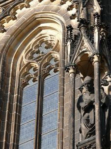 Free Rosette Of St Vitus Cathedral. Prague Royalty Free Stock Photography - 6416217