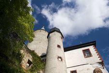 Castle Burg Posterstein Stock Image