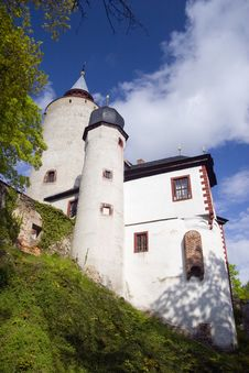 Castle Burg Posterstein Stock Photography