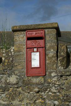 English Village Post Box Royalty Free Stock Image