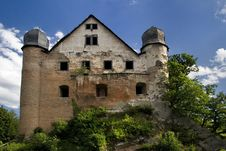Castle Ruin Burg Schwarzburg Royalty Free Stock Photography