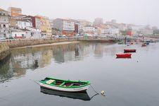 Harbor In Fog Stock Photo