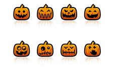 Free Halloween Pumpkins Royalty Free Stock Image - 6417026