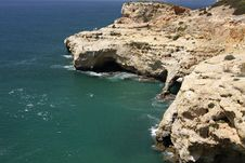 Coastline With Caves Royalty Free Stock Image
