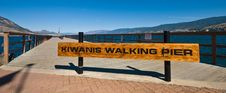 Kiwanis Walking Pier Royalty Free Stock Photos
