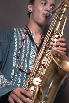 Free Man Playing Saxo Stock Photos - 6418523