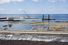 Free Pier Construction, Lages Do Pico, Azores Royalty Free Stock Photos - 6418548