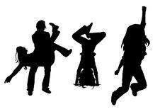 Free Silhouette Dancing Girl Stock Image - 6419351