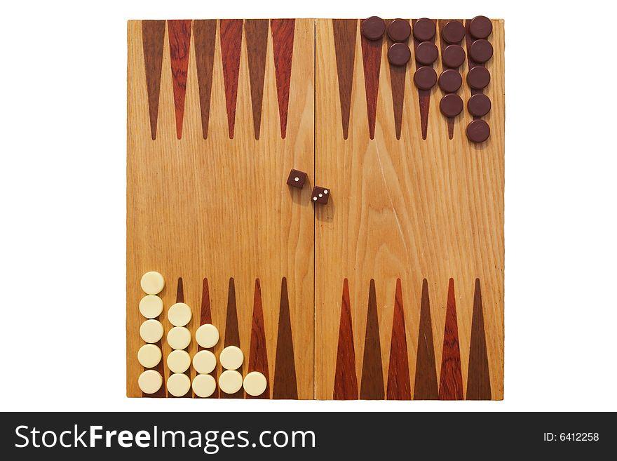 Backgammon ready to play