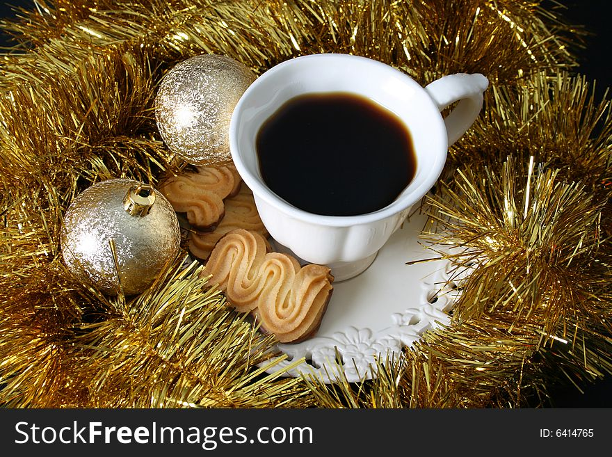 Coffee Christmas Morning.Christmas Morning Coffee Free Stock Images Photos