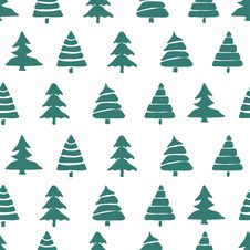 Free Fir Tree Seamless Pattern Stock Photo - 64184580