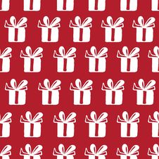 Free Seamless Vector Pattern With Gift Royalty Free Stock Photography - 64184597