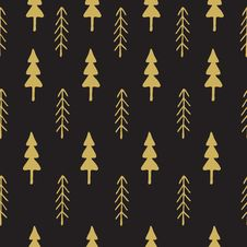 Free Fir Tree Seamless Pattern Colorful. Stock Images - 64184624
