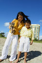 Free Mother And Son At The Beach Stock Photography - 6425872