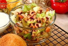 Free Black Eyed Pea Salad Royalty Free Stock Image - 6420026