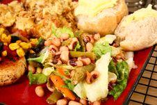 Free Black Eyed Pea Salad Stock Photos - 6420083