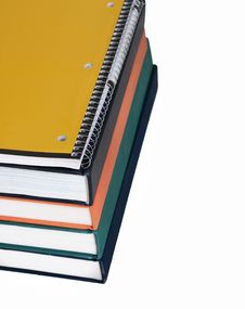 Free Pad And Books Stock Image - 6420461