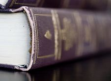 Beautiful Leather Bound Books Royalty Free Stock Images
