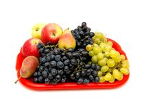 Fruits And Bunches Of Grapes. Stock Photography