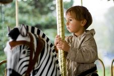 Free Boy On Merry-go-round Stock Photo - 6422330