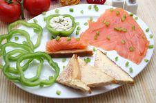 Free Salmon Snack Stock Photo - 6422620
