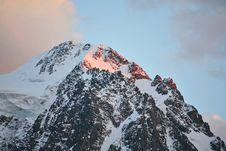 Free Mountain Peak At Sunset Stock Images - 6422684