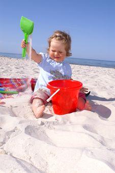 Free Baby And Beach5 Stock Photos - 6423673