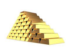Free Golden Pyramid Stock Photography - 6423912