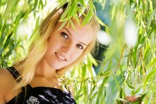 Free Girl In Leaves Stock Photography - 6424512