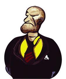 Free Cruel Face Businessman Stock Image - 6425391