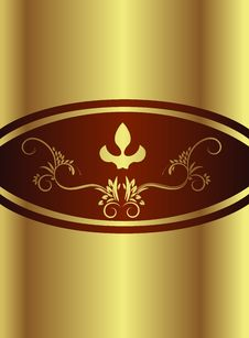 Royal Chocolate Gold Royalty Free Stock Image