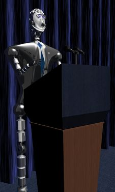 Free Robot President Stock Photography - 6426372