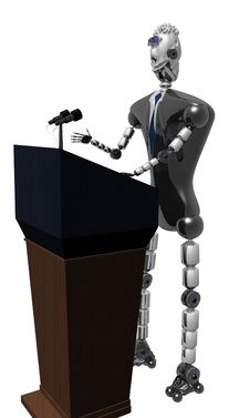 Robot President Royalty Free Stock Photos