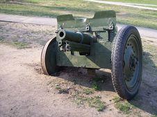 Antitank Soviet WW2 Gun Stock Images