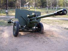 Soviet WW2 Antitank Gun Royalty Free Stock Photography