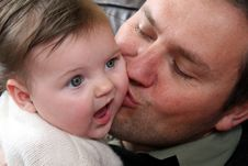 Free Baby Girl And Father Royalty Free Stock Image - 6427386