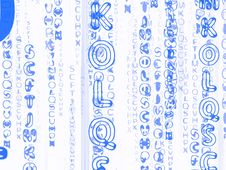 Free Blue Distorted Texts Stock Photography - 6427472