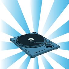 Free Turntable Illustration Stock Photo - 6427700