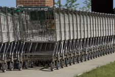Free Stack Of Shopping Carts Stock Images - 6428014
