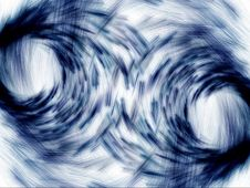 Free Blue Mirrored Particle Emissions Royalty Free Stock Photos - 6428108