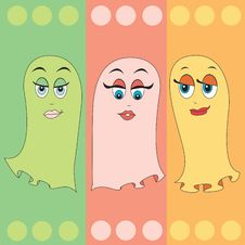 Free Ghost Girls Trio Stock Image - 6428831